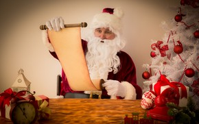 Picture New Year, Christmas, night, merry christmas, gifts, santa claus