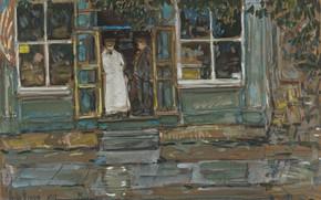 Picture picture, genre, Frederick Childe Hassam, Childe Hassam, Store. Finishe