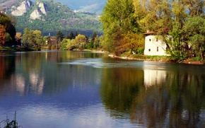 Picture Autumn, River, Village, Fall, Autumn, River, Village