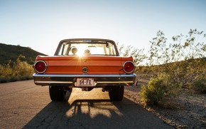 Picture Car, Old, Road, Ford Falcon