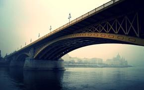 Picture Budapest, river, bridge