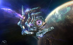 Picture space, planet, Online Strategy Game, A.D. 2460, Derelict Jumpgate Active