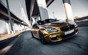 Picture car, machine, auto, bridge, city, fog, race, bmw, BMW, car, sports car, gold, car, need …