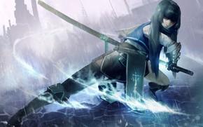Picture girl, sword, art