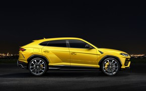 Wallpaper Urus, 2018, Lamborghini, side view
