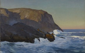 Picture landscape, picture, Rockwell Kent, Rockwell Kent, The mountains and the Sea