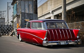 Picture Chevrolet, Bel Air, 1957, Tuning, Wagon, Nomad