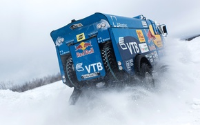 Wallpaper Snow, Dakar, KAMAZ, Kamaz, Winter, The Arctic, Master, Russia, Rally, Master, Truck, RedBull, Power