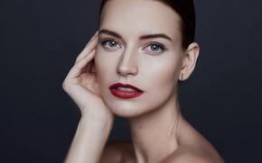 Picture look, face, lipstick, Oksana