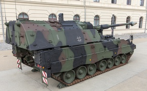 Picture self-propelled, PzH 2000, German, artillery