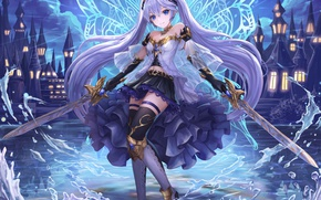 Picture girl, anime, art, Vocaloid