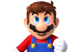 Picture mustache, hair, hand, nose, Mario, jumpsuit, glove, Mario, Super Mario Odyssey