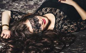 Picture dark, model, mask