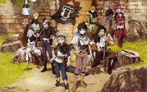 Picture anime, boy, flag, manga, mahou, japonese, madoshi, Black Clover, Asta, Yuno