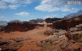 Picture mountains, stones, desert, Battlefield 1, Sinai Desert
