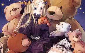 Picture toys, anime, art, girl, stars, bears, Teddy bears, Fate Grand Order, The destiny of a …