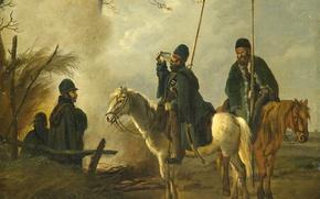 Picture tree, oil, picture, genre, Pieter Gerardus van OS, Cossack Outpost in 1813