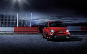 Picture Red, Car, Abarth, Front, 595, 2017, Pista