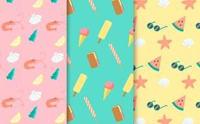 Picture summer, background, Wallpaper, vector, texture, summer, patterns