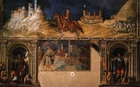 Picture Simone Martini, Equestrian portrait, Civico in Siena, of Guidoriccio da Fogliano