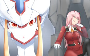 Picture girl, robot, anime, Darling In The Frankxx