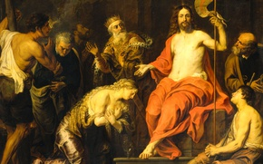 Picture oil, picture, religion, canvas, mythology, Gerard Segers, Christ and the Penitent Sinners