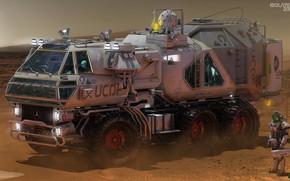 Wallpaper Isolate 2399 Rover, desert, car