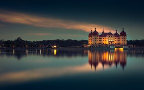Wallpaper Moritzburg, the evening, Germany, Germany