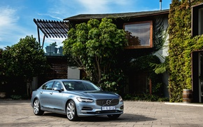 Picture auto, house, shadow, Volvo, metallic, Inscription, S90