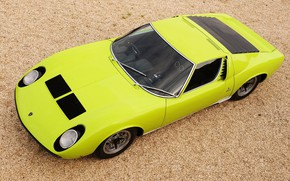 Picture Color, Lamborghini, Retro, Green, Machine, Eyelashes, Top, Lights, Car, Supercar, 1970, Miura, Supercar, Lamborghini Miura, …