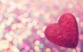 Picture love, heart, love, heart, pink, romantic, bokeh