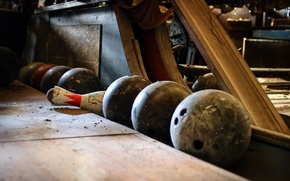 Wallpaper balls, skittles, bowling