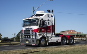 Picture Red, White, Kenworth, K104