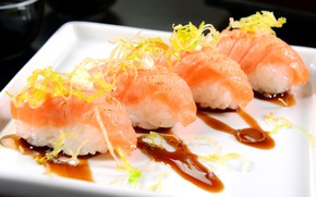 Picture fish, sauce, sushi, sushi, seafood, seafoods