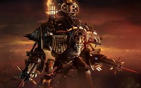 Picture sake, gun, game, Warhammer 40000, armor, mecha, weapon, war, Warhammer 40k, Warhammer 40,000, Lady Solaria, …