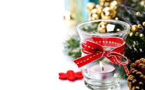 Picture holiday, candle, tape, New year, decoration, decor, Natalia Klenova