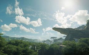 Picture forest, the sky, mountains, rock, Ingonyama