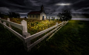 Picture night, the fence, Church