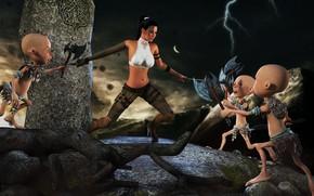 Picture sign, fight, totem, dwarfs, ElvenRock Ambush