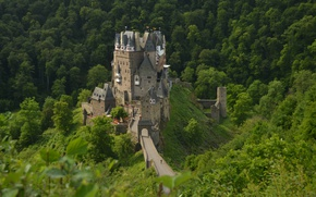 Picture Nature, Germany, Panorama, Nature, Germany, Panorama, Wierschem, ELTZ Castle, Castle of Eltz, Burg Eltz, Wierchem, …