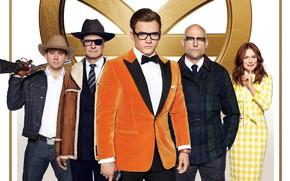 Wallpaper gun, hat, glasses, costume, Winchester, action, poster, Colin Firth, Channing Tatum, Channing Tatum, Julianne Moore, ...