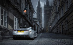 Picture auto, the city, street, the evening, aston martin, dbs