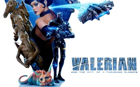 Picture cinema, gun, Rihanna, robot, mecha, weapon, alien, movie, film, Bubble, Cara Delevingne, Melo, Laureline, Valerian, …