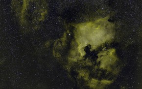 Picture space, stars, Swan, in the constellation, NGC 7000, The North America Nebula