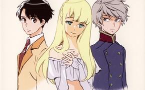 Picture look, blonde, costume, guys, art, military uniform, asseylum vers allusia, slaine troyard, aldnoah zero, inaho …