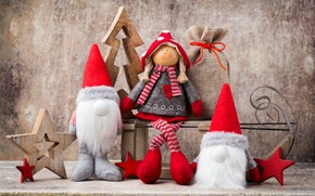 Picture decoration, toys, doll, New Year, Christmas, happy, Christmas, vintage, wood, New Year, Merry Christmas, Xmas, …