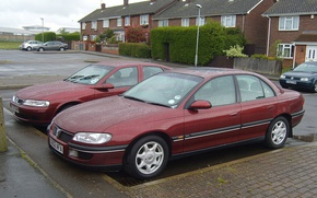 Picture auto, Home, after the rain, Playground, vauxhall-omega-22-cdx