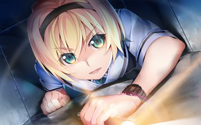 Picture girl, watch, crawling, Grisaia: Phantom Trigger