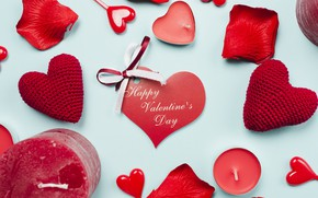Picture Candles, Hearts, Holiday, Valentine's day