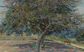 Picture landscape, picture, impressionism, Arman Hyomin, Armand Guillaumin, Trees at Ile-de-France